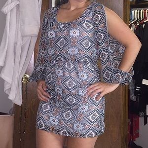 Dress with cut out arms